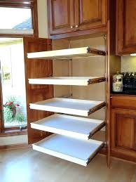 kitchen cabinet organizers pull out slide pantry shelves home depot canada