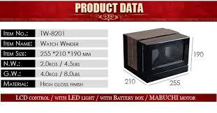 d watch winder 2 slots watch storage box wooden watch reel winder display for watch