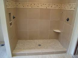 simple shower pan installation in center