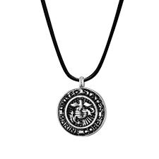 b96467 u s marine corps badge memorial necklace 1