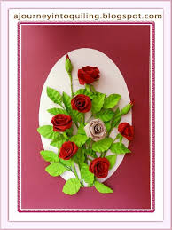 Paper Quilling Flower Frames Paper Quilling Roses Quilled Flower Frame A Bouquet Of Roses