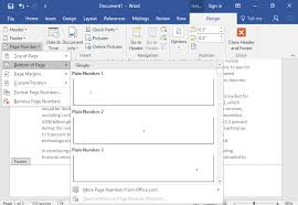 Ms Word Header Headers And Footers Computer Applications For Managers
