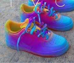 shoes colorful nike air force 1 af1 air force 1 air force ones yellow red purple air force 1 shoe
