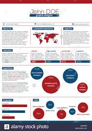 Modern Resume Color Modern Resume Design In Blue Red And White Color Combination