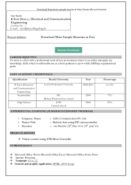 Microsoft Word Resume Template Free Dow Microsoft Word Resume