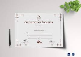 Pet Adoption Certificate Template Simple Adoption Certificate Template