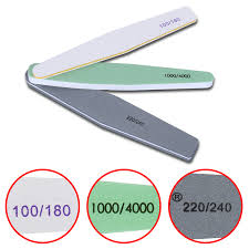 Us 1 49 20 Off Nail Art Nail Files Sanding Shimmer 3 Sizes Pro Nail Art Double Side File Sanding Bar Manicure Pedicure Nail Tools In Nail Files