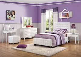 ... Purple Bedroom Color featuring White Bedroom Furniture