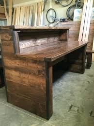 rustic office desk vintage deck regarding plan 11