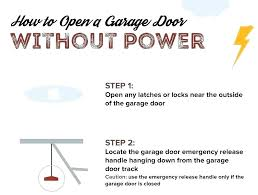 how to manually close garage door lock from inside