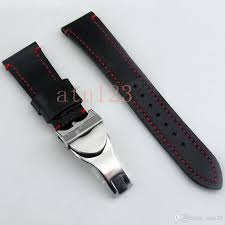 corgeut 22mm black watch bands genuine leather watch strap watchbands 190mm watch straps for men bands replacement with buckle p589 watch bands