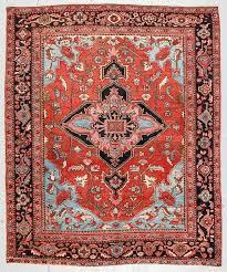 antique serapi rug persia 6 11 x 8 5 by material culture bidsquare