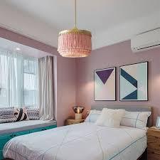 stylish pink pendant light fringe