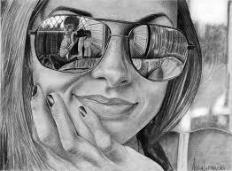 mirror reflection drawing. pin drawn goggles mirror reflection #1 drawing t