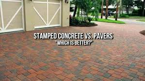 stamped concrete patio vs pavers full size of concrete or cost f cement patio of brick stamped concrete patio vs pavers