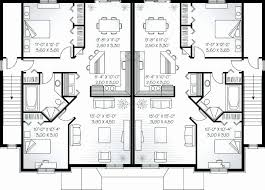 tiny duplex floor plans inspirational duplex house plans for seniors tiny small plan feet by plot unique
