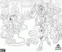 Princess Cadence Kleurplaat My Little Pony Princess Celestia