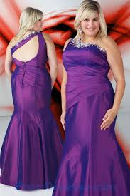 ball gown for plus size buy tailor made purple one shoulder beaded taffeta ball gowns for