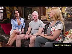 Step Mom Massage Threesome