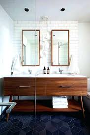 modern bathroom vanity ideas cool mid century modern bathroom with dark colored floor tiles using cool