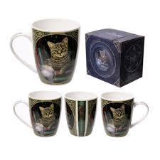 J Parker Design Mugs Cat Fortune Teller Lisa Parker Designed Bone China Mug