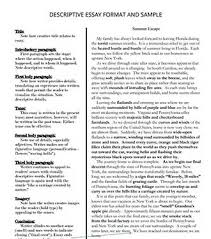 Descriptive Essay Example About An Object Learn How To Write A Descriptive Essay 5staressays