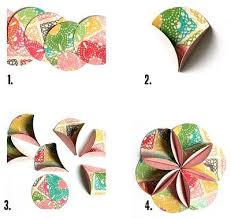 Paper Flower Folding Easy Round Paper Flower Folding Instructions Origami
