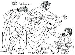 Peter Heals The Lame Man Coloring Page Acts 3 Sheet And John Heal A
