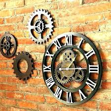 exposed gear wall clock large wooden wall clock exposed gear wall clock wall clock exposed gears exposed gear wall clock