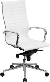 white leather office chair. Interesting Chair Flash Furniture High Back White Ribbed Leather Executive Swivel Chair With  KneeTilt Control And On Office Y