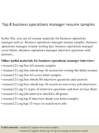 Business Operations Resume Objective Piqqus Com