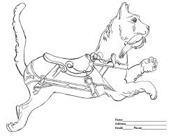 Small Picture Carousel Animals Coloring Pages Free Coloring Carousel Animals
