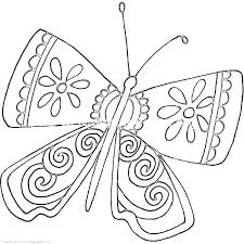 Printable Coloring Pages Of Flowers And Butterflies Butterfly Printable Coloring Pages Originalyric Info