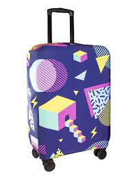 Чехол на <b>чемодан PROFFI TRAVEL</b> геометрия, размер L в ...