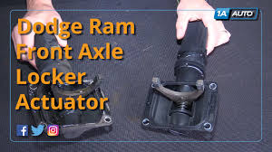 how to install replace front axle locker actuator 2006 10 dodge 2012 Ram 1500 Cabin Filter at 2012 Ram 1500 Front Differential Wiring Harness