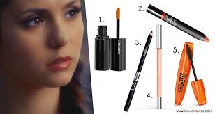 look with a creamy eye pencil like the one from nabla here there s the swatch finally on your lips apply a bright color like orange