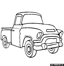 chevy truck coloring page picture