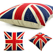 Small Picture Union Jack UK Flag Square 16034 Pillow Cases Linen Home