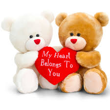 Hug Bears That Light Up Hugging Teddy Bears With Heart Keel Toys Valentines Day