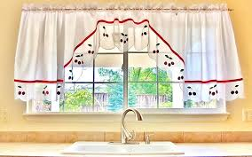 retro kitchen curtains vintage cafe