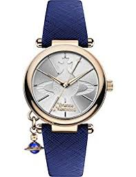 amazon co uk vivienne westwood watches vivienne westwood women s orb pop quartz analogue display watch silver dial and blue leather strap