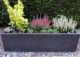 Planters | fibreglass planters, modern trough large fibreglass terrazzo  effect .