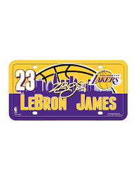 Los Angeles Lakers LeBron James License Plate – Lakers Store