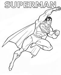 Small Picture Heroes Superman Coloring Pages For Kids Printable Super Heroes