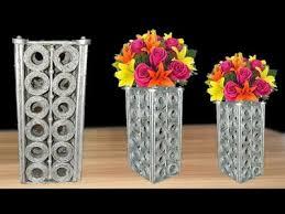 News Paper Flower Vase Paper Newspaper Flower Vase Flower Vase Making At Home