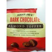 photo of trader joe s dark chocolate almond toffee