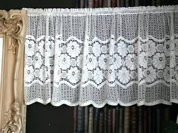 lace panels a vintage style white cotton lace curtain valance panel