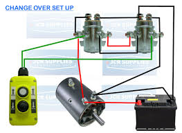 universal external solenoids x solenoids v tail lift and and reverse winch tail lift motor if you only require 1 because you already have a set up like this please see my other advert for 1 solenoid thank you
