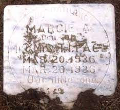 Marcie A. Pace (1936-1936) - Find A Grave Memorial