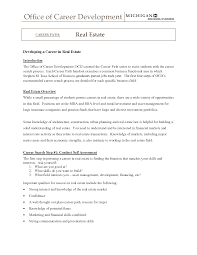 Awesome Collection Of Entry Level Real Estate Agent Resume Great